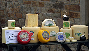 Creamy,Crumbly, Tasty Lancashire Cheese Display
